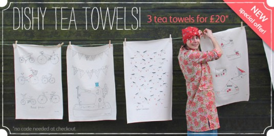 3 tea towels for £20? yes please!