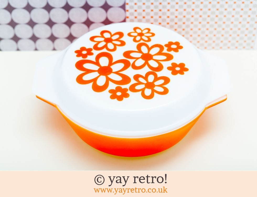 Orange Daisy Pyrex