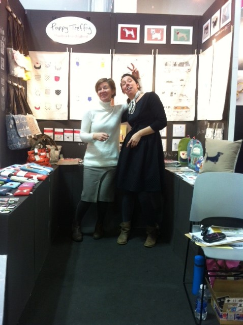 Sara and Faye manning the stand at the New York Gift Fair
