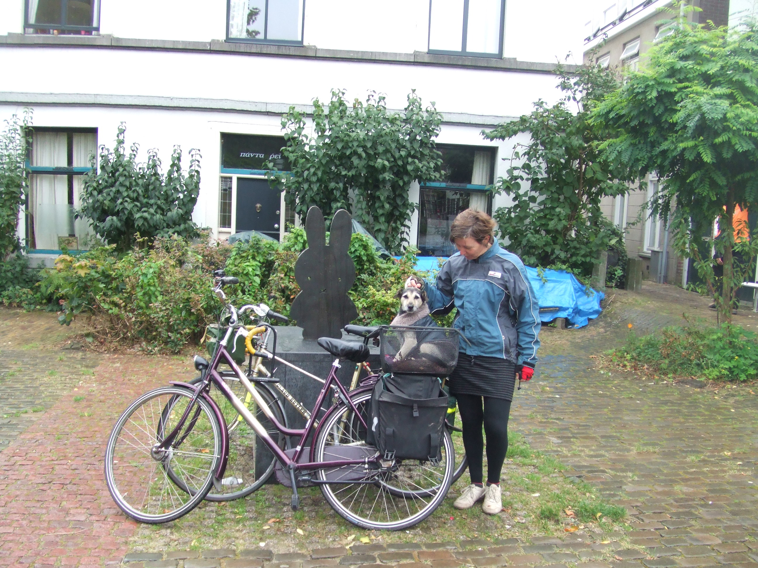 Sara and her bike on their travels!