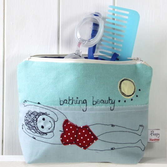 Bathing beauties make up bag